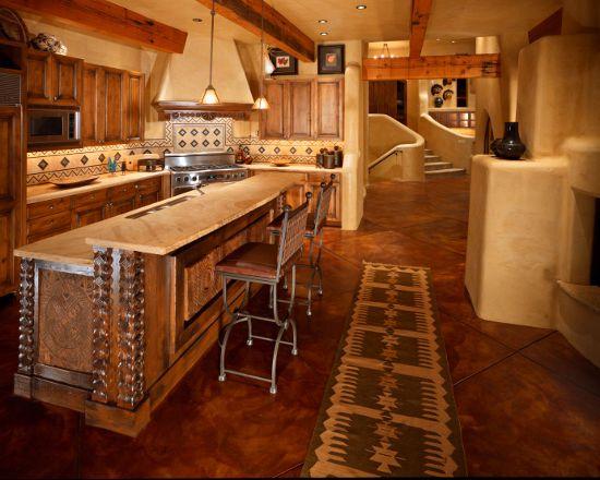 Rustic Santa Fe Mexican Kitchen Kitchens Pinterest