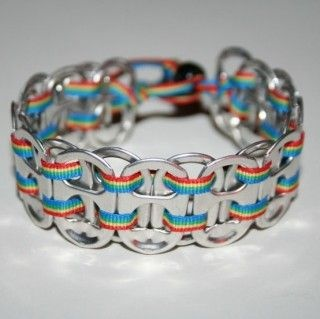 Soda Tab and Ribbon Bracelet