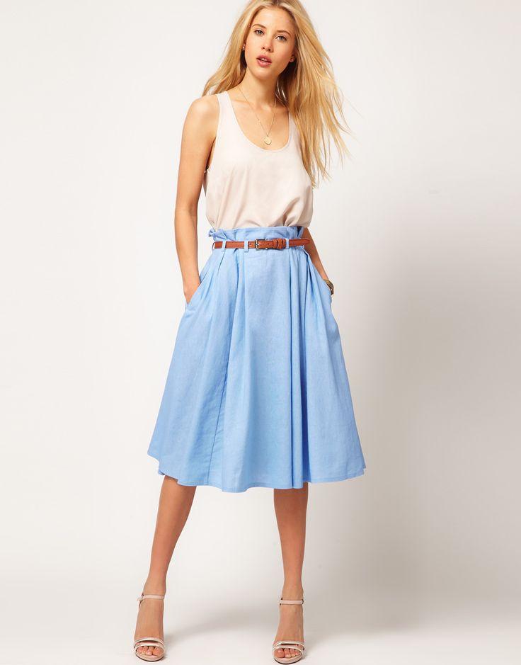 light blue skirt my style