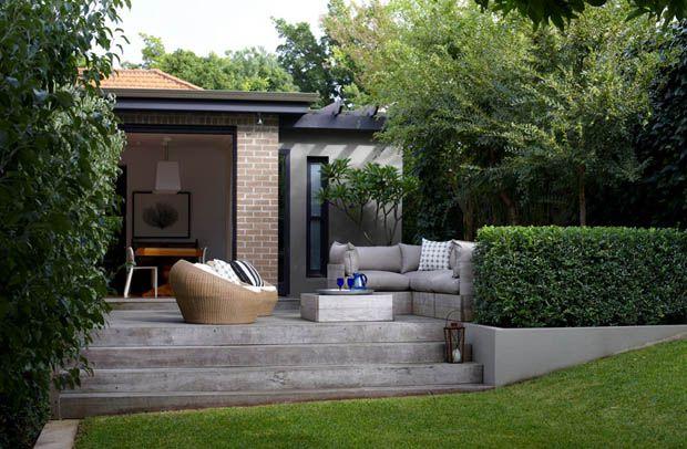 บ้านและสวน จัดสวนนั่งเล่น เก้าอี้โซฟาหน้าบ้าน