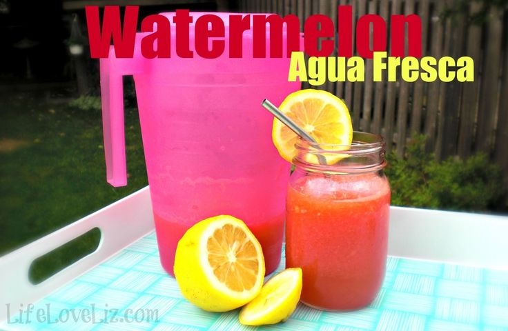 Strawberry Watermelon Agua Fresca Recipe — Dishmaps