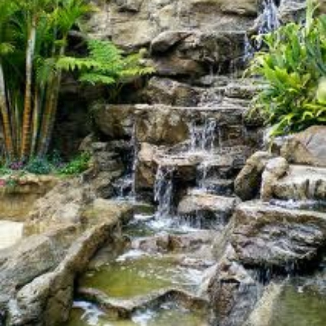 Man made waterfall for the back yard  outdoors  Pinterest