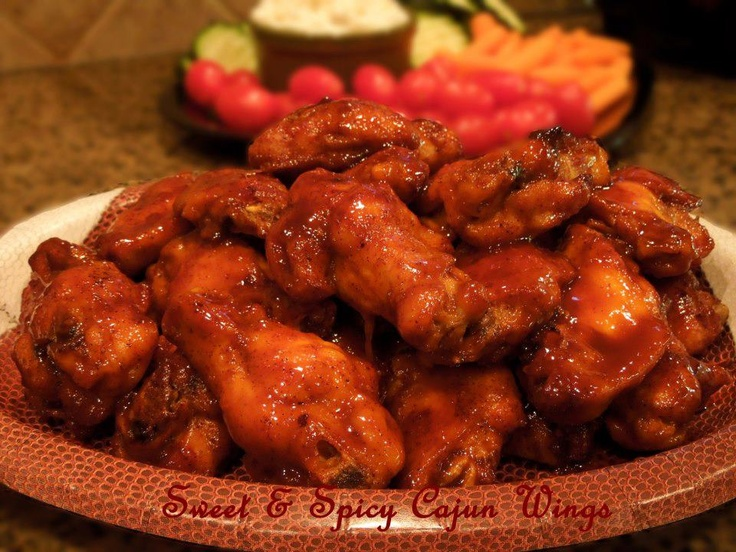 sweet and spicy Cajun chicken wings | Appetizing | Pinterest