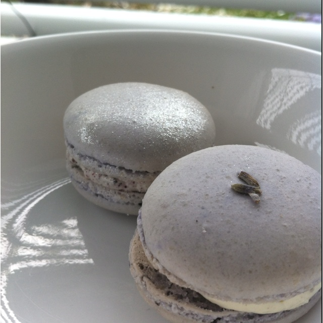 Blueberry Macarons ! Love the light purple