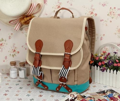 New Mens Womens Fashion Backpack Rucksack Satchel Canvas Tablet PC Bag