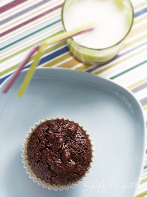 Easy peasy gluten-free brownie cupcakes (from a mix). I won't tell if you don't.