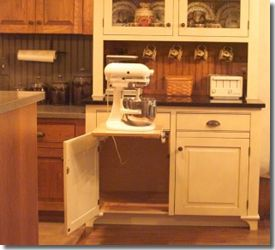 Kitchenaid Mixer Cabinet Nice Could Do Something Like This For