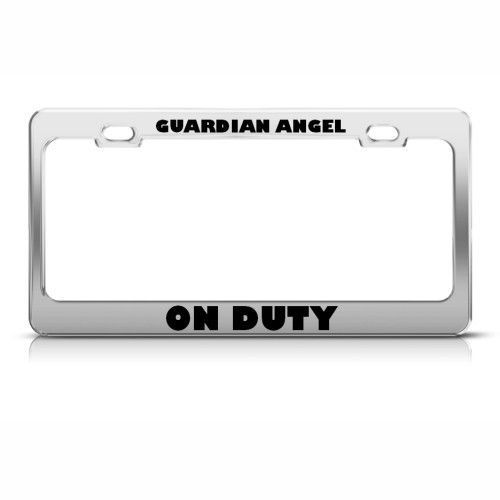 GUARDIAN ANGEL ON DUTY RELIGIOUS LICENSE PLATE FRAME STAINLESS METAL ...: pinterest.com/pin/48906345928191713