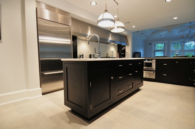 Black Shaker Styles Kitchen Cabinets Kitchens Pinterest