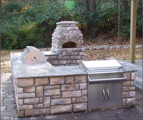 Outdoor Pizza Oven And Grill Landscapes Pinterest