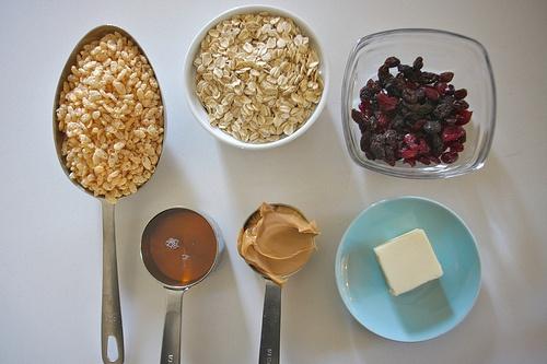 Peanut Butter Granola Bites. Remove butter to make into bars.