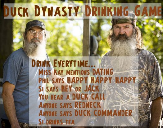 Duck dynasty drinking game funny stuff pinterest