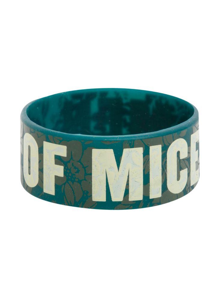 Of Mice & Men Green Floral Rubber Bracelet