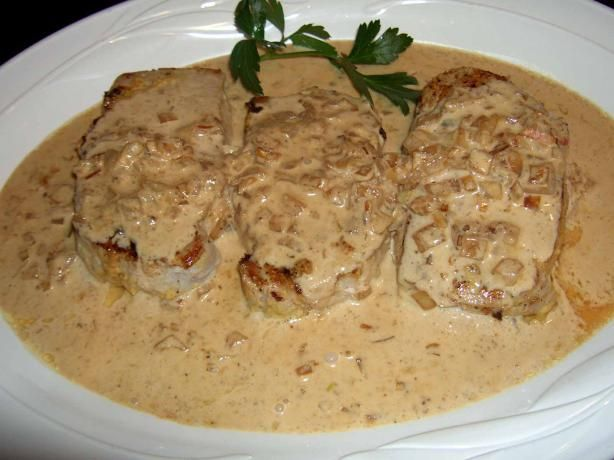 Dijon Pork Loin With Cognac Cream Sauce | Recipe