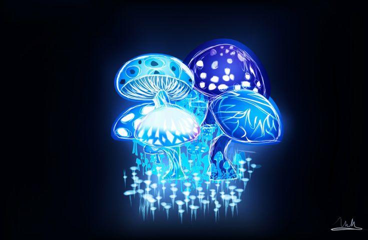 gallery laptop neon mushrooms - photo #13