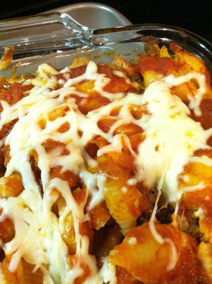 , cooked noodles, sour cream, mozzarella, meat (ground beef or turkey ...