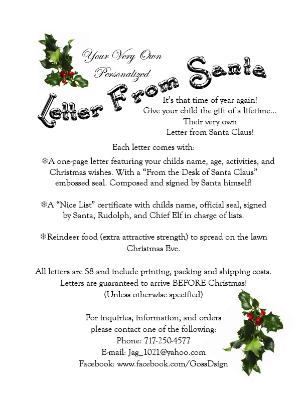 Santa Letters with an Official Nice List Certificate and Reindeer Food ...