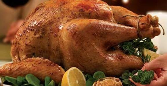 Lemon-Garlic Roast Turkey & White-Wine Gravy | KitchenDaily.com