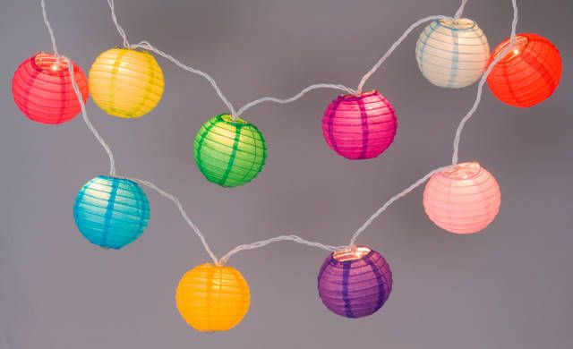 Mini Paper Lantern String Lights