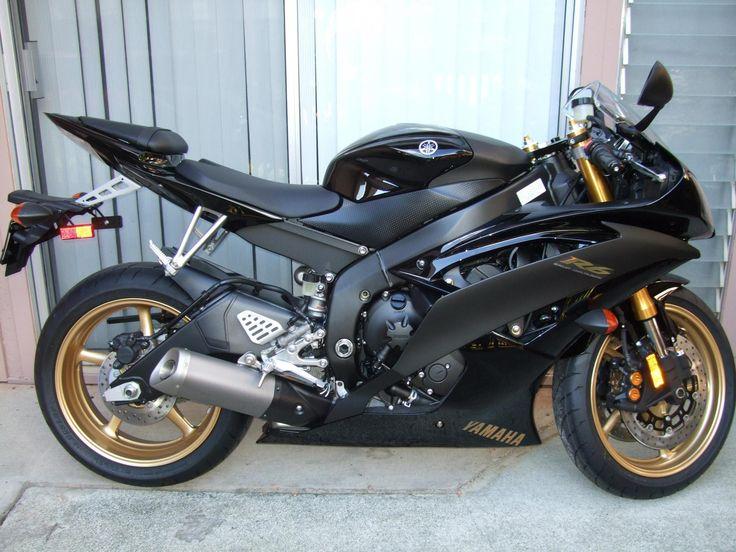 Yamaha R6 Black Amp Gold Bike Love Pinterest