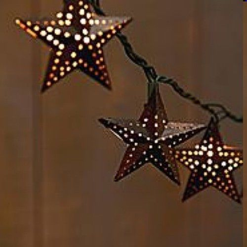 Texas Lone STar Barn Burner String Lights Country WEstern Look NEW Pa?