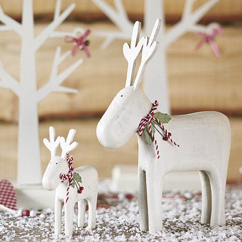 Wooden Carved Reindeer by Beautiful Day