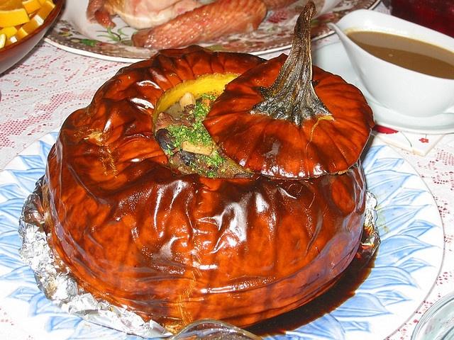 Pumpkin stuffed with vegetable stew | Om Nom Nom Nom | Pinterest