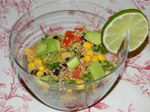 Quinoa Salad with Black Beans, Avocado, heirloom tomatoes and Cumin ...