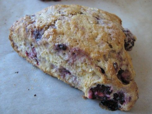 Blackberry Scones With Whole Wheat And Honey