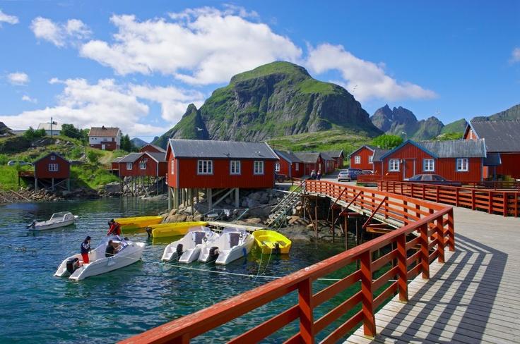 ilha Moskenes, em Lofoten, Noruega