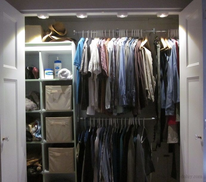 Closet lighting with wireless motion-detector LEDs = awesome! www ...