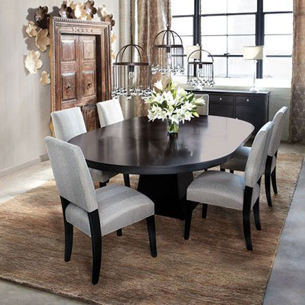 Arhaus Leighton Small Dining Table Pedastal Oval Table Exactly