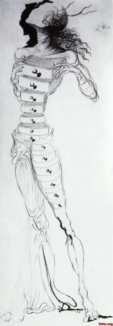 1934 Drawing by Salvador Dali