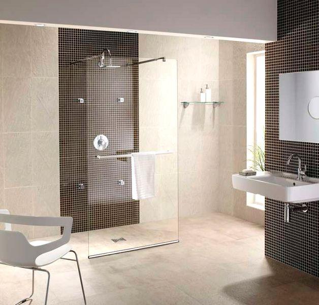 Walk thru shower hilltop house andrea 39 s room pinterest for Walk through shower pros and cons