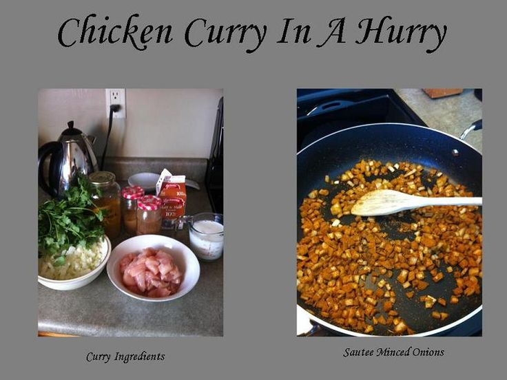 Chicken Curry in a hurry | Tried and true recipes | Pinterest