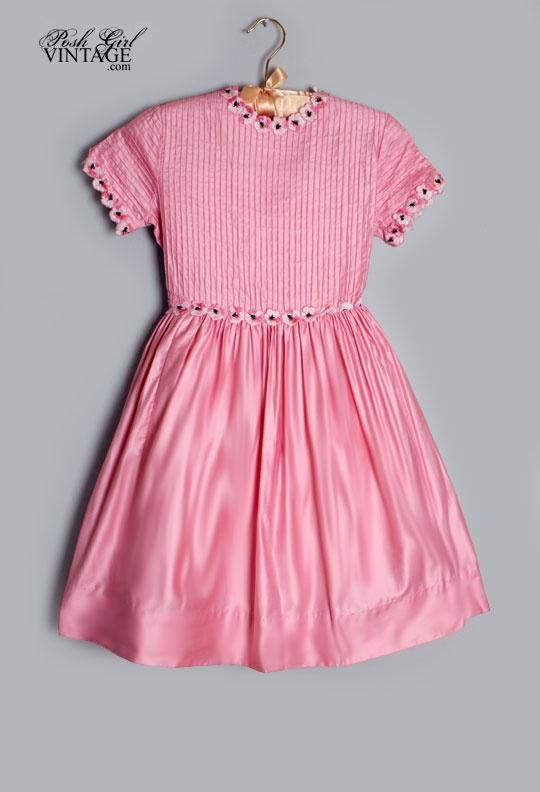 1950 s girls pink pansies vintage dress children items that seem to