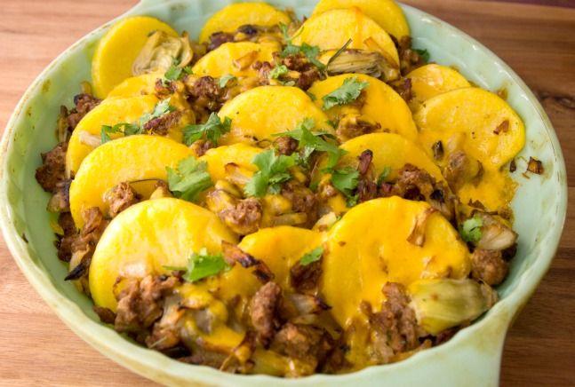 Polenta and Veg Sausage Casserole | Recipe