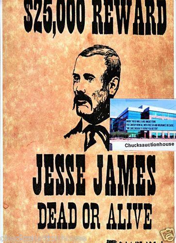 Jessie James $25,000 reward poster copy   Chucks Mobs,Gangster,Infamo ...