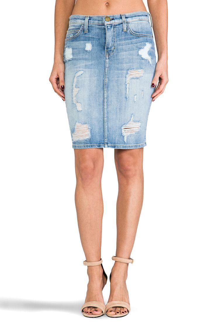 denim pencil skirt fashion