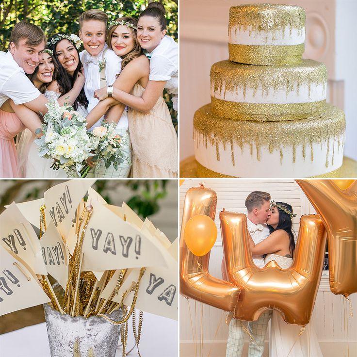 wedding gold pink