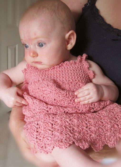 Baby Sun Dress Pattern To Crochet : Little Maiden Sundress Baby Crochet Pattern