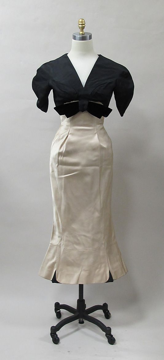 Cocktail dress, Charles James, 1952-53, American, silk