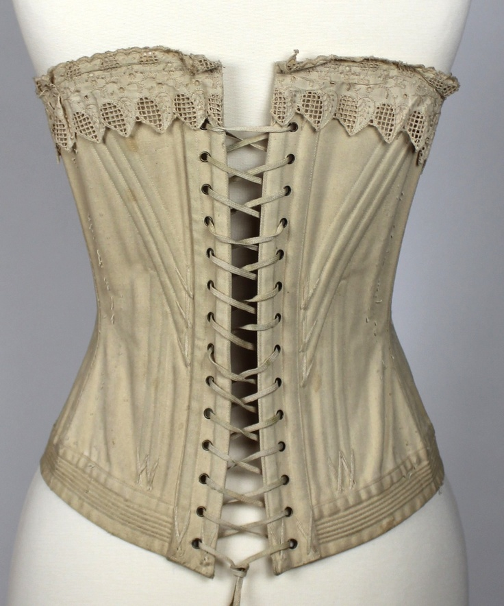 Corset 19th Century Pin by Lesley Oswin on...