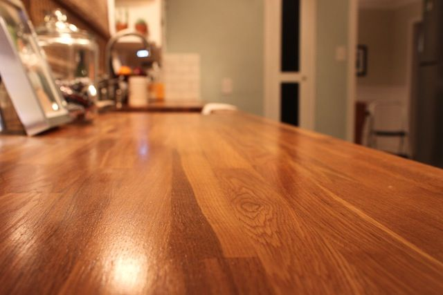 How to install butcher block countertops my kitchen How to install butcher block countertop