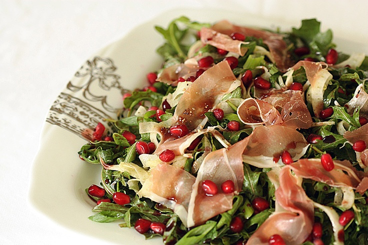 Fennel, prosciutto and pomegranate | Food | Pinterest