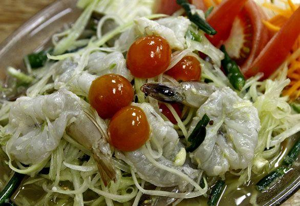 Corn Som Tam With Shrimp Recipes — Dishmaps