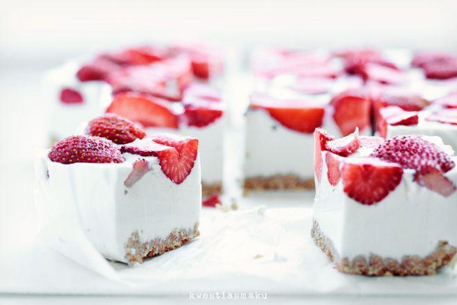 Strawberry- Coconut Cheesecake Recipe — Dishmaps