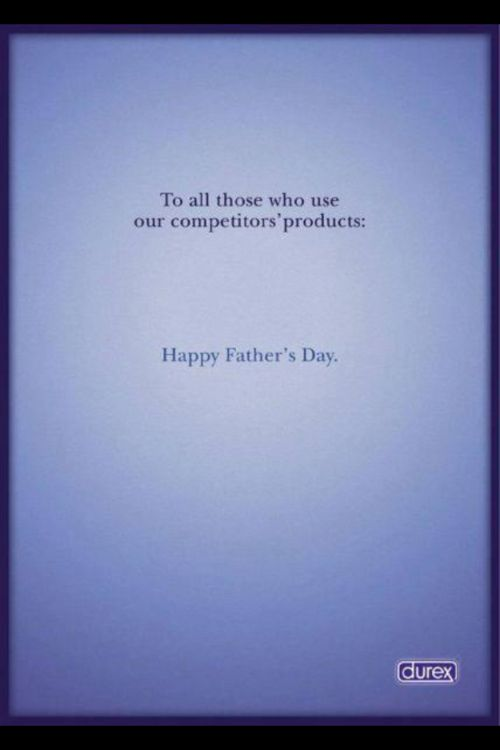 durex father's day print ad