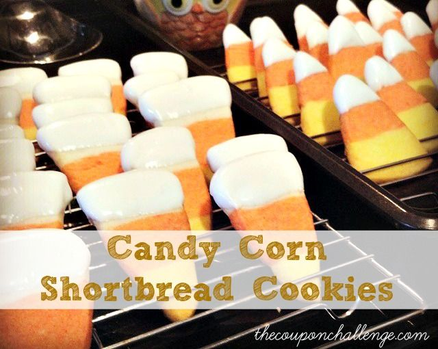 The very best and cutest candy corn shortbread cookie recipe ever