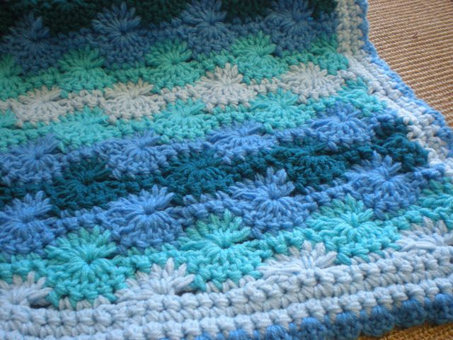 Crochet Baby Blanket - Ocean Waves - Quick & Cozy Series pattern by T ...